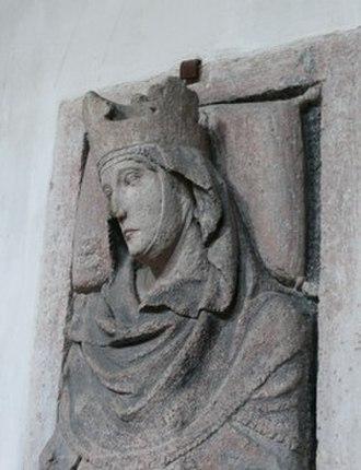 Hemma - Tomb effigy at St. Emmeram's Abbey