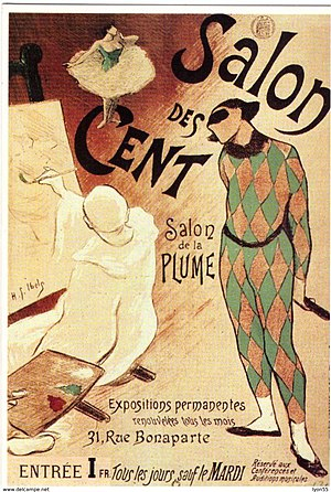 Salon des Cent - Image: Henri Gabriel Ibels poster for first Salon des Cent exhibition 1893