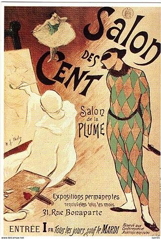 Salon des Cent - Image: Henri Gabriel Ibels poster for first Salon des Cent exhibition 1893