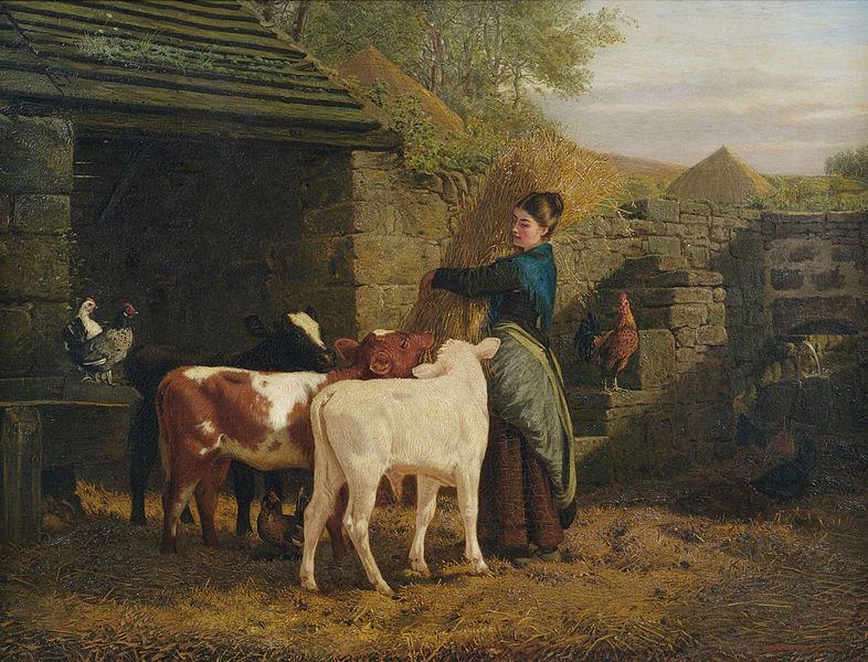 File:Henry Hetherington Emmerson Bauersfrau mit drei Kälbchen.jpg