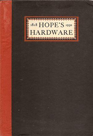 Henry Hope & Sons Ltd - Hope's 1930 catalogue
