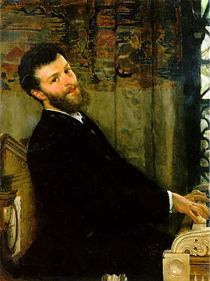 George Henschel - Portrait of Henschel by Lawrence Alma-Tadema, 1879
