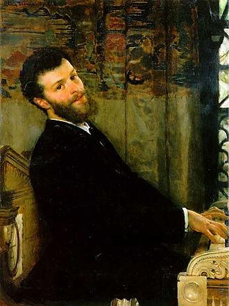 George Henschel - Portrait of Henschel by Lawrence Alma-Tadema, 1879