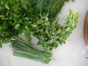 parsley, dill, fenugreek, chives