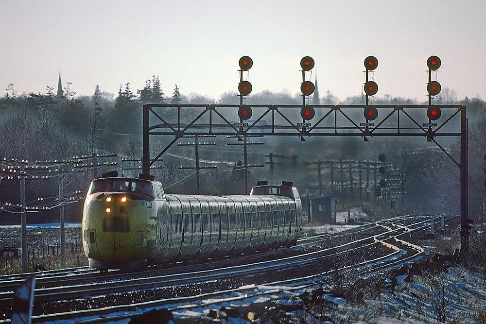 VIA Rail Turbo Train, Port Hope Ontario, by Roger Puta.