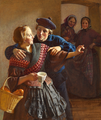 Herman Siegumfeldt - Kurtiserende par - 1861.png