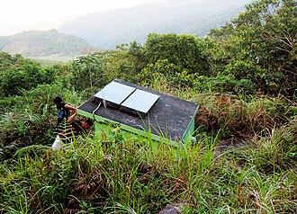 Mount Hibok-Hibok - A solar-powered remote monitoring station located at Hibok-Hibok volcano