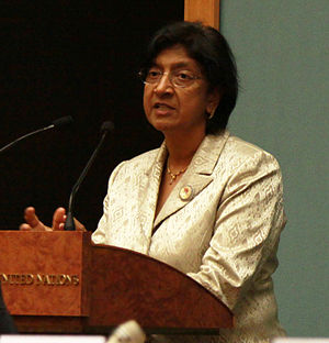 International Day for the Elimination of Racial Discrimination - Image: High Commissioner for Human Rights, Ms. Navanethem Pillay