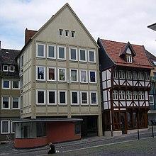 Pillar house and inverted sugar loaf in Hildesheim