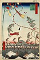 Hiroshige, The city flourishing, Tanabata festival, 1857.jpg