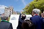 Hiroshima Mayor Kazumi Matsui Shows Secretary Kerry the Hiroshima Peace Memorial (25758655634).jpg