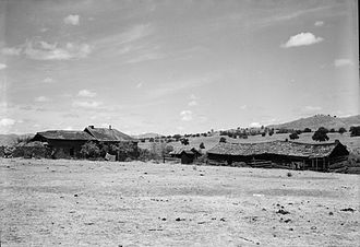 Gillum Baley - Ruins of Fort Miller, California in 1936. Gillum Baley and his family lived in the fort's disused buildings from 1860 to 1861