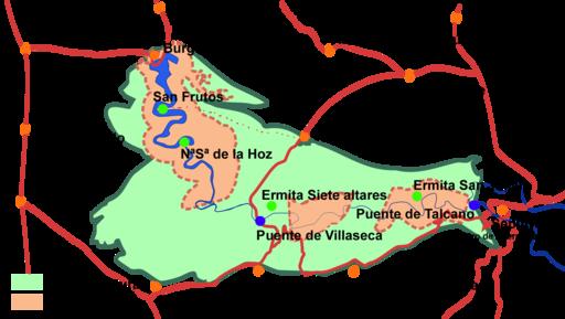 Resultado de imagen de mapa hoces rio duraton