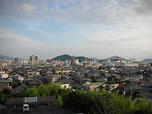 Hōfu - Hofu city seen from Hōfu Tenman-gū shrine.