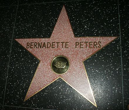 Peters' Star on Hollywood Walk of Fame Hollywood Star Bernadette Peters.jpg