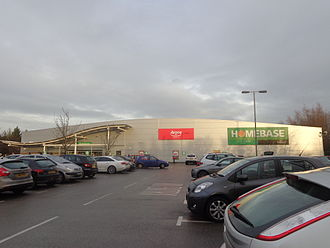 Homebase - A Homebase branch incorporating a branch of Argos in Moor Allerton, Leeds. In 2014, Home Retail Group began creating hybrid branches, within formerly solely Homebase branches.