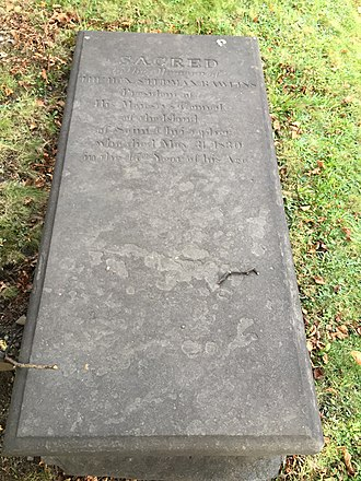 Slavery in the British and French Caribbean - Hon Stedman Rawlins, Slave/ Plantation owner, Saint Kitts, Old Burying Ground (Halifax, Nova Scotia)