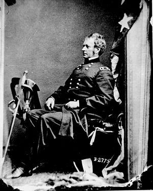 Joseph Hooker, photographed by Mathew Brady Ca...
