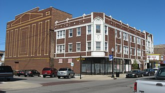 Whiting, Indiana - The Hoosier Theater Building is listed on the National Register of Historic Places