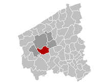 Vị trí của Houthulst in West Flanders