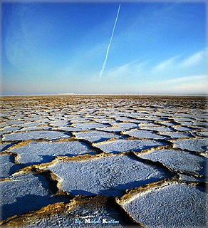 Dry lake A basin or depression that formerly contained a standing surface water body