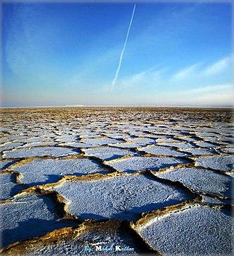 Dry lake - Namak Lake, Qom Province, Iran