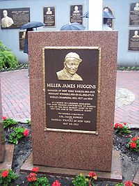Huggins's monument at Monument Park.
