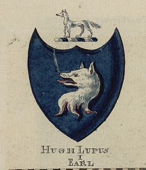 Hugh d'Avranches, Earl of Chester - Arms of Hugh 'Lupus, the first earl of Chester