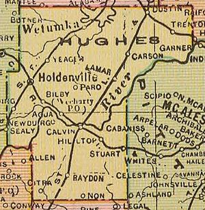1909 map of Hughes County