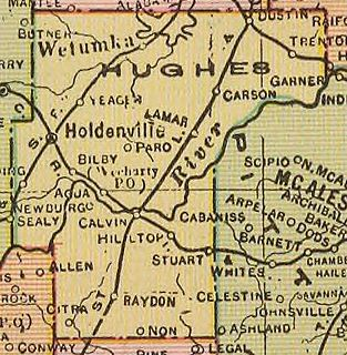 Hughes County, Oklahoma County in the United States