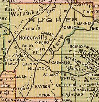 Hughes County, Oklahoma - Image: Hughes County 1909