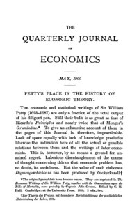 Pettys Place in the History of Economic Theory Journal article by C.H. Hull