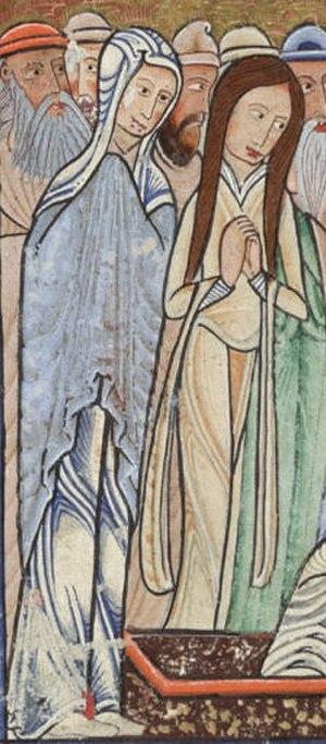 Bliaut - Image: Hunterian Psalter c. 1170 Women