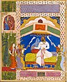 Husain Nizam Shah I on the Throne, Folio from manuscript Ta'rif-i Husain Shahi, Ahmadnagar, ca. 1565-69, Bharat Itihas Sanshodhak Mandal, Pune.jpg