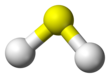 Baw-an-stick model o hydrogen sulfide