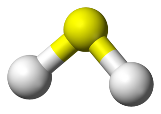 Hydrogen chalcogenide - Image: Hydrogen sulfide 3D balls