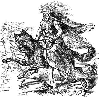Hyrrokkin - Hyrrokkin by Ludwig Pietsch (1865)