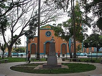 Cantaura - Image: IGLESIA Y PLAZA BOLIVAR DE CANTAURA panoramio