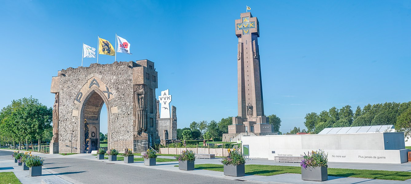 WW1 war memorial De IJzertoren in Diksmuide, Belgium. 14 photos stitched together.