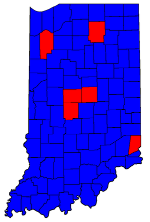 United States Senate election in Indiana, 2004 - Image: IN Sen Counties 04