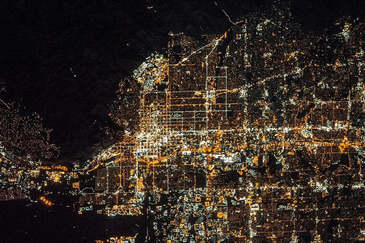 File Iss 38 Nighttime View Of Salt Lake City Utah Jpg