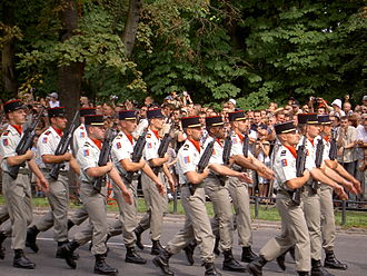 Armed Forces Day (Poland) - Image: I pułk artylerii w Belfort