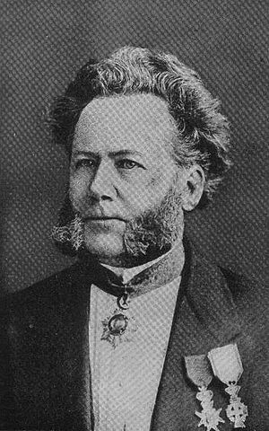Domestic drama - Portrait of a younger Henrik Ibsen, one of the first playwrights to adapt domestic drama into his works.