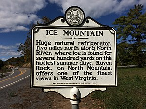Ice Mountain - Ice Mountain historical marker