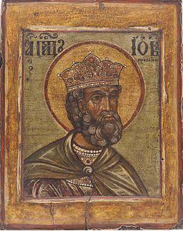 Icona russa di San Giobbe del XVII secolo