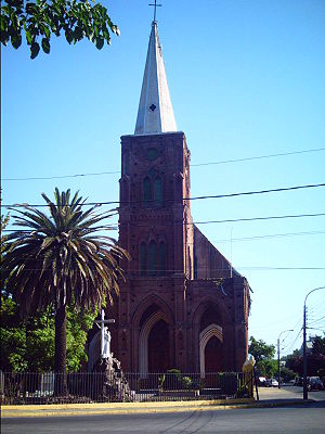 San Francisco church in Curicó, Chile (Iglesia...