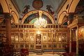 Ikonenwand der Kirche des St. Saba(s), Alexandria, Ägypten.jpg