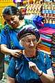 In Santa Caterina Palom-dressing up Dinah for a trip to the market (6849881064).jpg