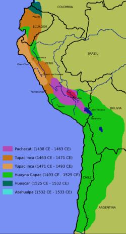 Expansión del imperio Incaico.