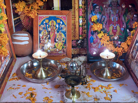 A family altar in India. India - Family altar - 7090.jpg